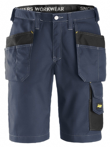 Snickers 3023 Ripstop Holster Pocket Shorts (Navy / Black)